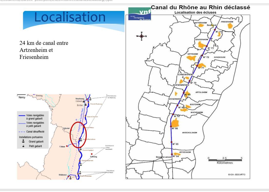 plan canal rhone au rhin